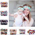 2pc/set 2016 Hot  Parent-child outfit mom baby head band women headband  Cloth cotton Girl hair accessories