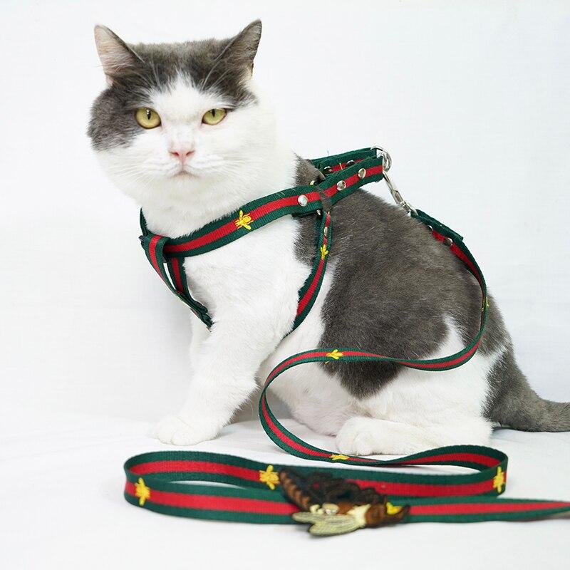 Rétractable marche chat corde gilet chien chaîne Traction corde Teddy faucon Traction collier pas tirer chien harnais chien colliers
