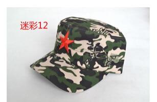 50 шт./партия Federal Express быстро в китайском стиле для женщин Мужская хлопковая Маскировочная шапка Регулируемая Повседневная бейсбольная кепка мягкая шапка - Цвет: 12