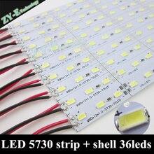 10 cái * 50 cm LED Bar Strip supper bright 50 CM DC12V 36 SMD 5630 LED Cứng Cứng dải Ánh Sáng với vỏ Nhôm + pc cover miễn phí ship