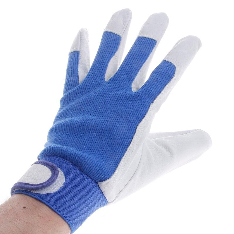 цена 1Pair Pigskin Leather Gloves Wear Resistant Driving Working Repair Safe Gloves онлайн в 2017 году