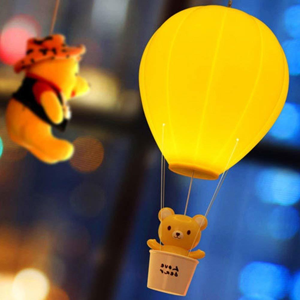 Hot Air Balloon Baby Nursery Desk Lamp Dimmable USB Rechargeable Touch Switch Kawaii Cartoon Children Bedroom LED Night Light litake dimmable hot air balloon led night light children baby nursery lamp with touch switch usb rechargeable wall lamp