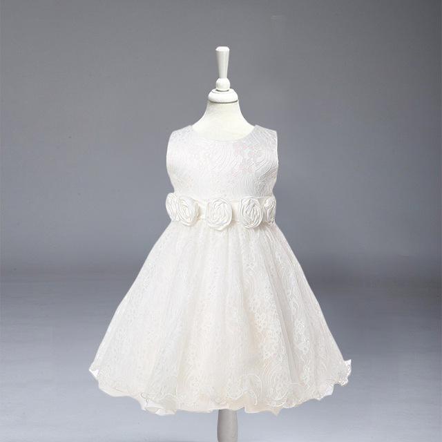 L-88 Al Por Menor niños vestidos de la muchacha Blanco partido de Los Niños vestido de princesa vestido de encaje para la boda