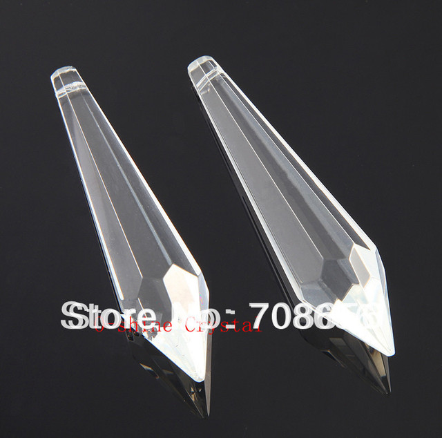 200pcs 80mm clear chandelier glass crystals lamp prisms parts 200pcs 80mm clear chandelier glass crystals lamp prisms parts hanging drops crystal prism drop pendant for aloadofball Choice Image