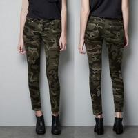 New Fashion Women Camouflage Pants Female Casual Military Trousers Tight Pants Women pencil pants s1526