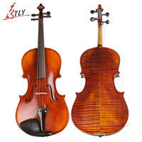 TONGLING Master Handmade Antique Viola Natural Drying Flamed Maple Wood Oil Varnish Matt Viola 15-16