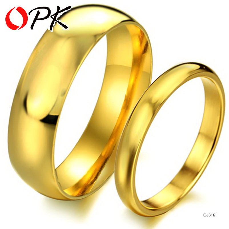 TENGYI Price for 2 pcs factory jewelry gold glossy titanium steel