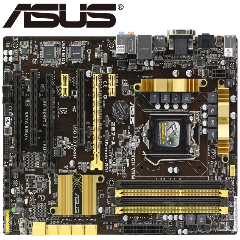 Asus Z87-A Desktop Motherboard Z87 Socket LGA 1150 i3 i5 i7 DDR3 32G ATX UEFI BIOS Original Used Mainboard Hot Sale asus m5a78l desktop motherboard 760g 780l socket am3 am3 ddr3 16g atx uefi bios original used mainboard on sale