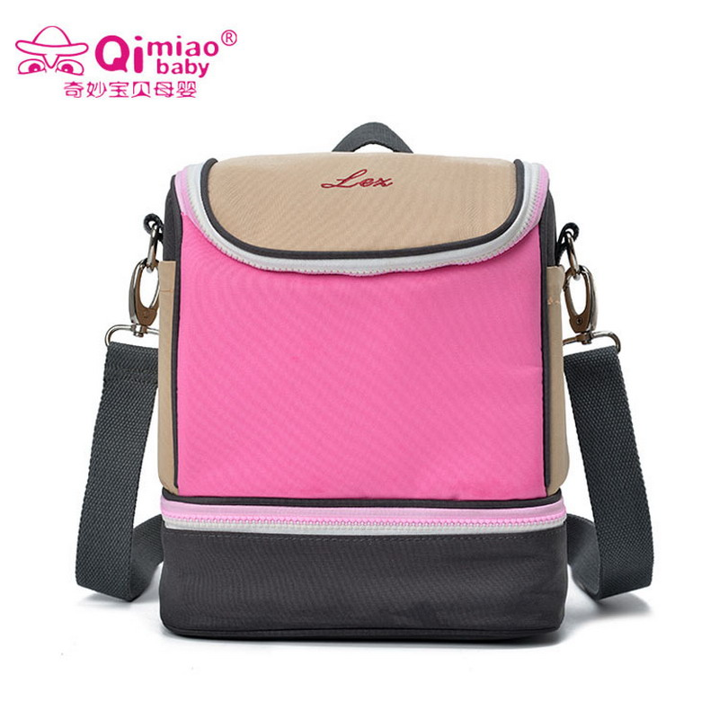 Fashion Women's Shoulder Bag Mummy Packs Ice Packs Large Capacity Food Insulation Lunch Box Bags Picnic Backpacks Pink Lady Bags lazylife 18l top quality fashion portable insulated lunch bag thermal food picnic lunch bags for women kids men cooler lunch box