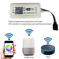 WiFi LED Controller 288w DC 5V 12V For RGB / RGBW LED Strip SMD 3528 5050 2835 Control Music and Home WiFi Controller