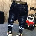 Детская Одежда Производителей, Продающих 2016 Корейская Мода Зима Мальчик Все Матч Отверстие С Толстый Бархат Джинсы Детские Джинсы