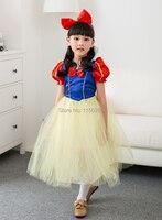Envío Gratis Blancanieves Kawaii Puffy Vestido de Carnaval Fiesta de Halloween Traje de la Navidad Para Niños Nueva Al Por Mayor/Ventas Al Por Menor