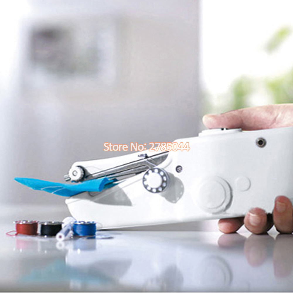 Ձեռքի էլեկտրական կարի մեքենա Mini Portable Handy Stitch Home Sewing Quick Hand-Helme Single Stitch Handmade DIY Tool FL00001