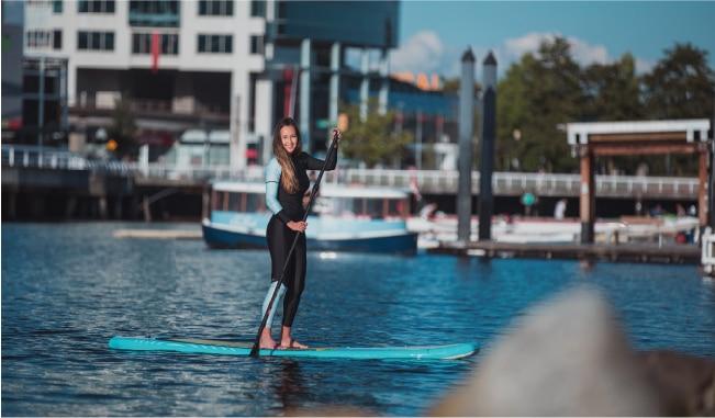 Անվճար առաքում Aquamarina DetachableInflatable Standard - Ջրային մարզաձեւեր - Լուսանկար 4
