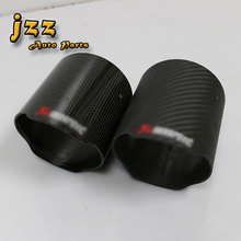 JZZ glass akrapov carbon fiber material 89mm/102mm/114mm for exhaust pipe