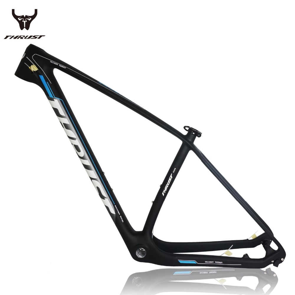 купить THRUST Carbon MTB Frame 29er mtb Mountain Bike Frame 15 17 19inch China Carbon Frame Disc Brake 2 year Warranty дешево