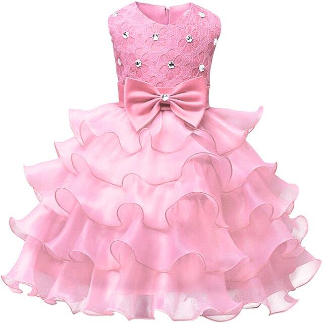 Bé Gái Váy Công Chúa Holiday Ren Trẻ Em Làm Lễ Rửa Tội Sự Kiện Wear Đảng Dresses Cho Girls Trẻ Em Bé Hồng Đỏ Trắng Quần Áo