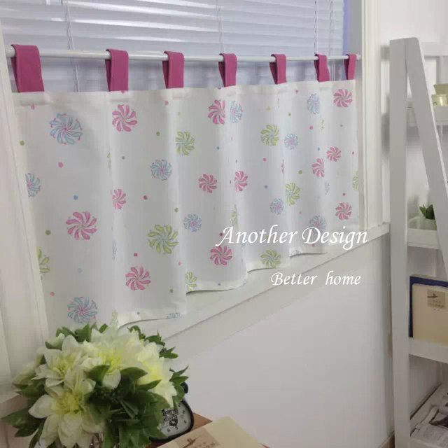 European Style Simple Cotton Curtain Bedroom Bathroom Shower Curtain  Sunshine Shading Curtain Home Decor Cafe Bar