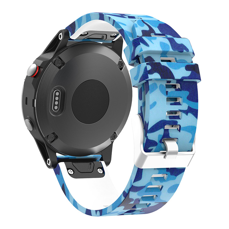 22MM Watchband for Garmin Fenix 5 5 plus for forerunner 935 GPS Watch Quick Release Printed Silicone Easyfit Wrist Band Straps in Smart Accessories from Consumer Electronics