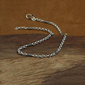 Image 3 - 4mm bambusowy naszyjnik 100% 925 srebrny łańcuszek modny naszyjnik mężczyzn biżuterii GN20