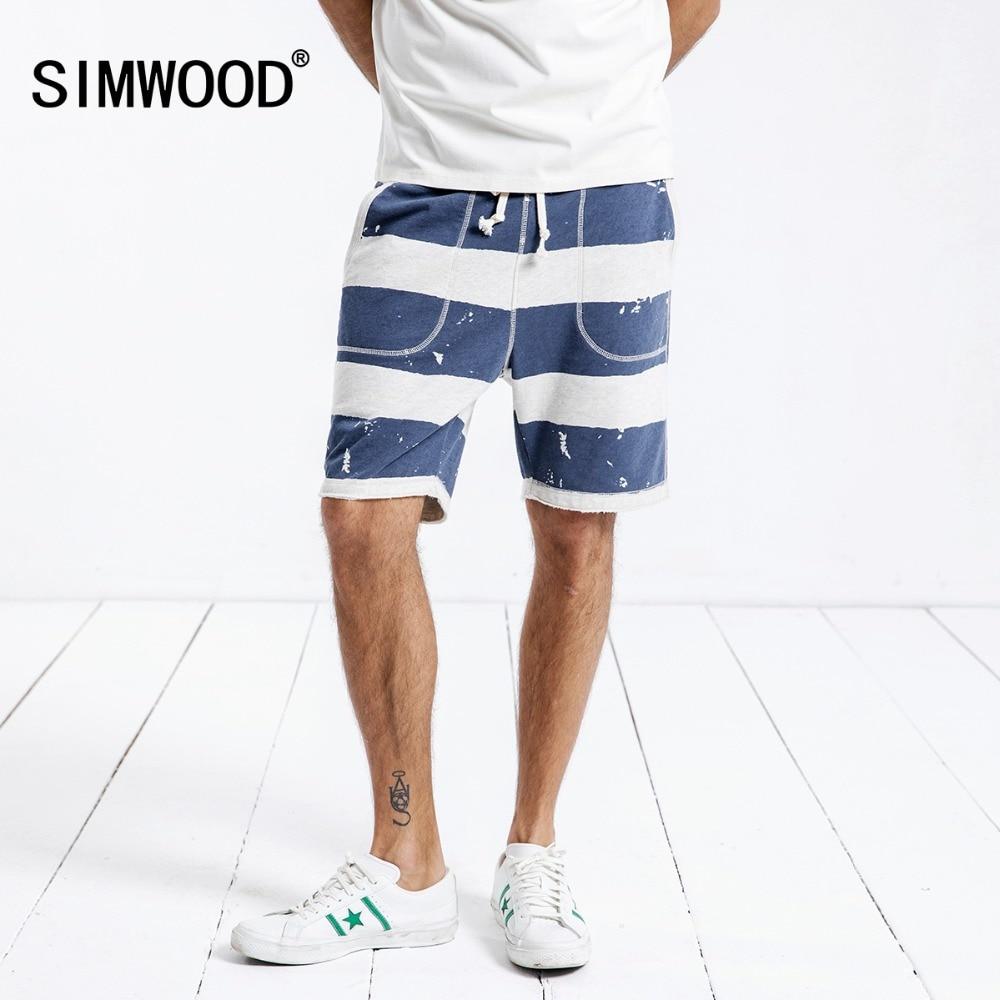 SIMWOOD 2018 Summer New Shorts Men Drawstring elastic Sportswear Comfortable Vintage Fashion 100% Cotton Sweat Shorts 180331
