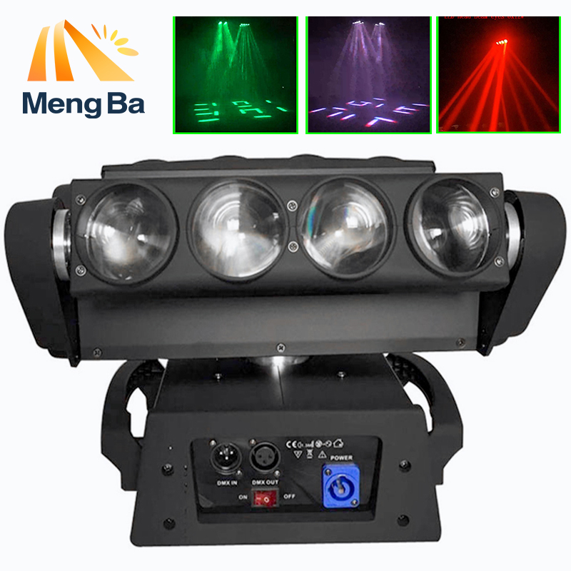 MengBa 8x12W 4IN1 RGBW Led Spider Moving Head Beam Light DMX Led Spider Light Spider led DJ/Party/Wedding Light cree rgbw 4in1 dmx led moving head spider light 8 eyes beam light stage light christmas dj disco party light