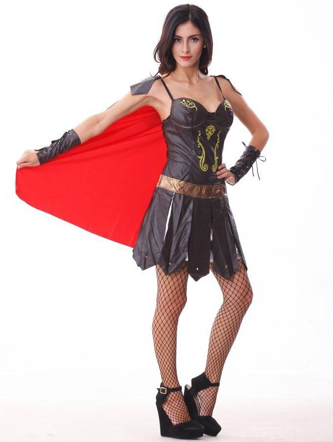 ჱadult Halloween Costume Role Playing Dress Roman Gladiator Female