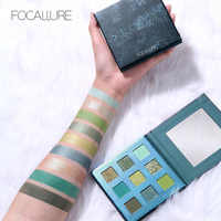 FOCALLURE Brand Glitter Green Eyeshadow palette waterproof makeup matte eyeshadow High pigment powder eye shadow pallete