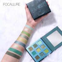 Focallure marca glitter verde sombra paleta maquiagem à prova dwaterproof água fosco sombra de olho alto pigmento em pó sombra pallete