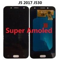 Super Amoled For SAMSUNG GALAXY J5 2017 J530 J530F SM J530F Display LCD Screen Touch Digitizer