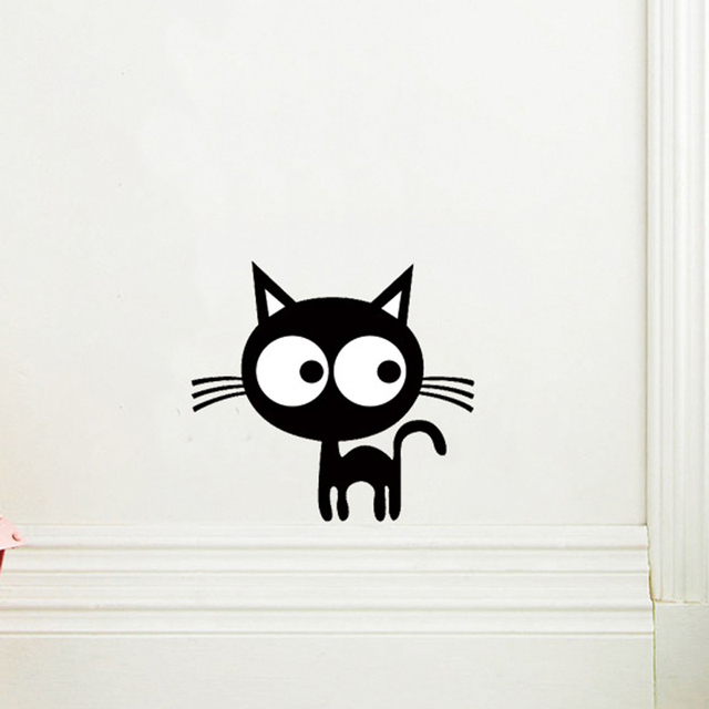 Image of: Cat Cute Cartoon Kitten Wall Sticker Diy Backdrop Decor For Home Decoration Room Decals Art Wallpaper Toilet Stickers On The Wall Aliexpress Cute Cartoon Kitten Wall Sticker Diy Backdrop Decor For Home