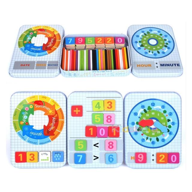 Baby Educational Toys Multifunctional Digital Box Montessori Toys Learning Education Math Toys Mathematics For Children