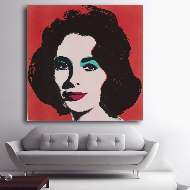 Elizabeth Taylor Portrait Oil Painting By Famous Master Andy Warhol Fashion  Canvas Art Print For Wall Decoration No Frame In Painting U0026 Calligraphy  From ... Amazing Ideas