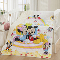 Promotion! Cartoon Mickey Kitty baby blanket for newborn swaddle super soft comfortable bab quilt,150*120cm