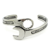 Wholesale Man Fashion Tools Wrench Bangle Stainless Steel High Quality Europe And United States Men S