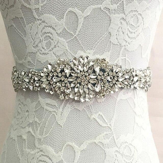 Women Luxurious Floral New Crystal Rhinestone Wedding Bridal Sash Belt Dress Sash Prom Sash Wedding Sash Belt Waistband Girdle