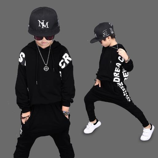 Children's Clothing Sets Spring Autumn Baby Boy Hip hop Sets sportswear Boys Clothes Suit 2PCS kids Clothes