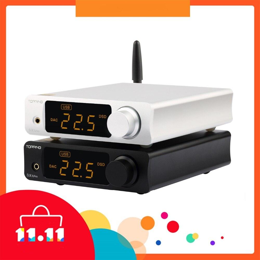 TOPPING DX3 PRO DAC USB Desktop Bluetooth decodifica amp AK4493 XMOS XU208 DSD512 soluzione difficile di uscita Per le Cuffie AK4493 OPA1612