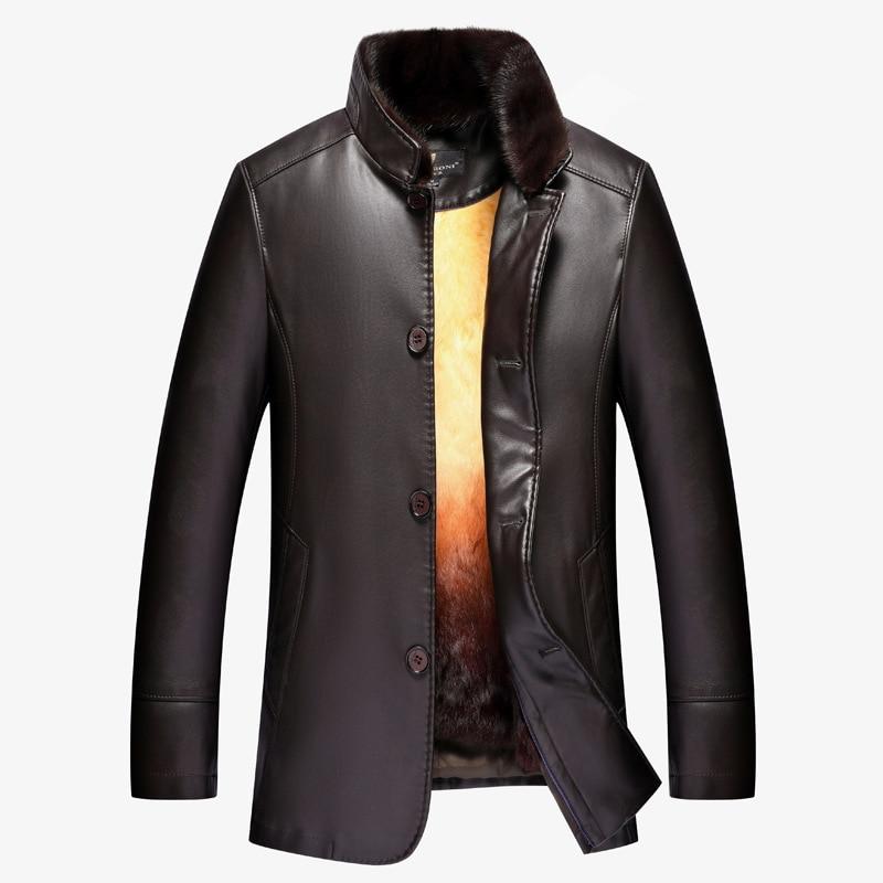 Nouvelle Intérieure Black D'or Arrivée a Rex 2018 Casual Nonne Mâle Épaississement D'hiver Taille M4xl Col De Manteau Surmonter Fourrure Vison Lapin Mode Épais VqpSzUM