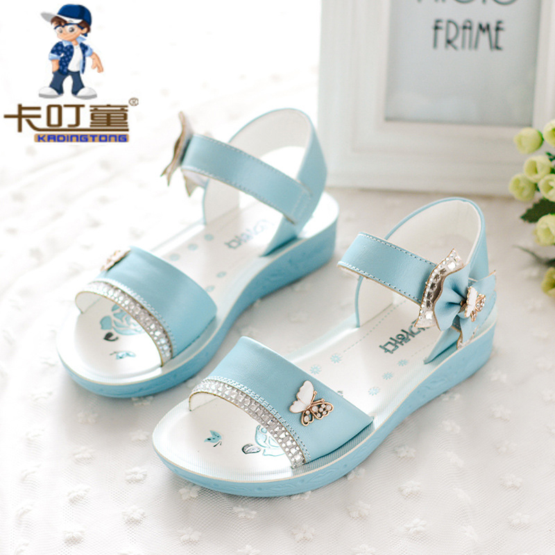 1c7e0749cc8 Kadingtong Καλοκαίρι Παπούτσια για τα κορίτσια Princess κόμμα Γνήσια ...
