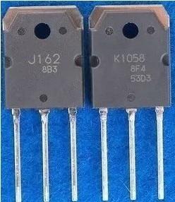 K1058 J162 1PCS+2SK1058 1PCS+2SJ162 TO-3P New Original In Stock