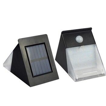 Triángulo 12 LED potente luces de jardín solar sensor de movimiento luz para decoración de pared ahorro de energía iluminación exterior