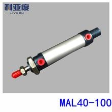 Lega di Alluminio mini cilindro MAL40x100 MAL40 100 componenti Pneumatici 40mm bore 100mm storke