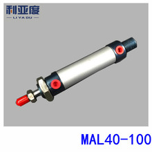 MAL40x100 aluminium mini cilinder MAL40 100 Pneumatische componenten 40mm boring 100mm storke