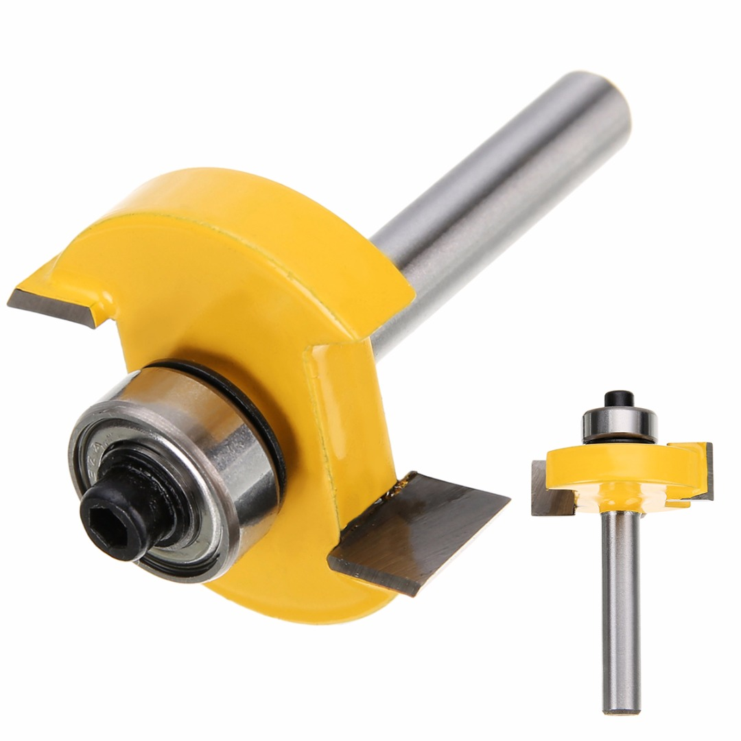 3/8 T-slot Router Bit 1/4 Shank Slotting & Rabbeting Router Bit Woodworking Cutter Tool 2 pc 1 2 sh 1 2 3 8 rabbeting