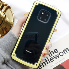 Luxury Armor Silicone Bumper Case On The For Huawei P20 P30 Pro Mate 20 Lite Shockproof Case For Huawei P Smart 2019 Soft Case(China)