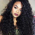 "250% Density Wet And Wavy Brazilian Virgin Hair Lace Frontal Human Hair Wigs For Black Women Wavy Human Hair Wigs 10-24"" Inches"