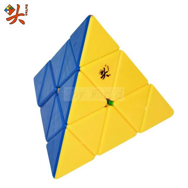 Nueva DaYan Pyraminx Cubo Mágico Speed Puzzle Cubos De Juguetes para el cabrito Niño kub Cubo mágico Juguetes Educativos buen regalo