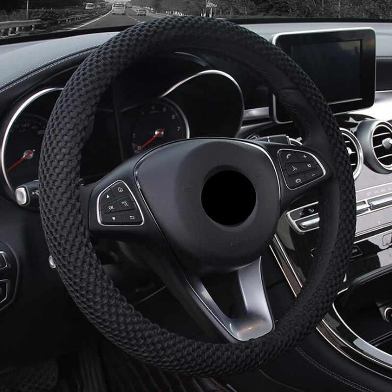 DONYUMMYJO льда шелка летнее колесо крышка Черный Цвет Авто украшения подходит для большинства автомобилей воздухопроницаемость грузовика 36/38/40/42/45/47/50 см