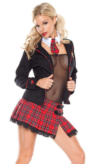 New Style Seductive School Girl Costume 3s1073 Sexy School Girl Dress Secretary Student Role Play Fancy